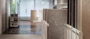 Detalle del showroom de Cerafino Tiles Marbella